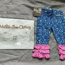 Matilda Jane 3-6 Months Blue & Pink Umbrella in My Element Leggings New Nwt Bag Photo