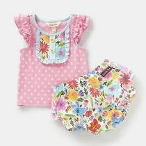 Matilda Jane Girls Size 12-18 Month Baby in Bloom Tank W/diaper Cover Set  Nwt Photo