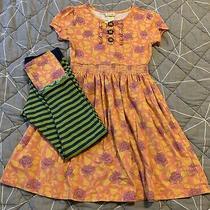 Matilda Jane Secret Fields Citronella Dress & Hudson Ribbed Leggings Size 10  Photo
