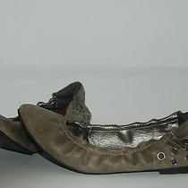 Matt Bernson 59 Taupe/gray Ballet Flat W/silvertone Metal Rivet Back Heel Sz 7.5 Photo