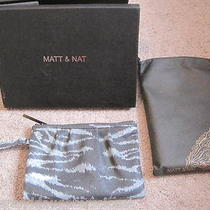 Matt & Nat Dress Wrislet Bag Clutch Tiger Black Aqua Recycled Nwt New Nib 98 Photo