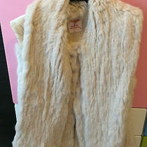 Matthew Williamson Beige Rabbit Fox Real Fur Gilet Vest  Photo