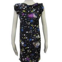 Matthew Williamson for Impulse Macy's Black Blue Color Splash Design Dress Sz Xs Photo