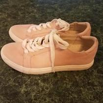 Maurices Light Pink Blush Faux Suede Sneakers Athletic Shoes Size 6 Photo