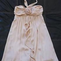 Maurices Silky Soft Easter Spring Wedding Dress Small Blush Pink Satin Strapless Photo