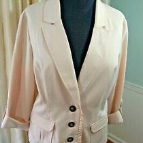 Maurices Women's Sz Xl Blazer Jacket  Unlined 3/4 Sleeves  Blush Photo