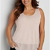 Maurices Womens New With Tags Blush Color Chiffon Layered Tank  Plus Size 4-4x Photo