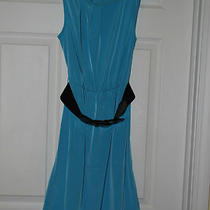 Maurices Xs Sleeveless Belted Knee-Length Dress - Aqua - Nwt Photo