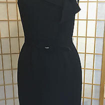 Max and Cleo Black Sleeveless Short Formal Cocktail Ruffle Dress Womens Size 2 Photo
