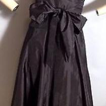 Max and Cleo Black Taffeta Cocktail Dress Size 4 Photo