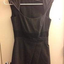 Max and Cleo Dark Gray Wear to Work Dress With Pleats Size 2 Photo