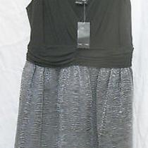 Max and Cleo Dress 12 Sleeveless Black Gray Holiday Evening New Photo