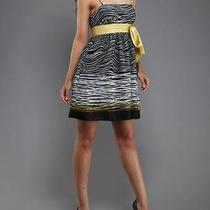 Max and Cleo Dress Black White Yellow Size 4  Nwt  134 Photo
