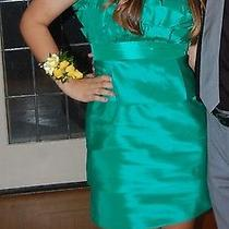 Max and Cleo Emerald Green Fun Short Strapless Prom Formal Dress Women Size 12 Photo