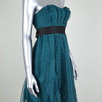 Max and Cleo New Green Tulle Corset Strapless Cocktail Dress Msrp 168 Size 0 Photo
