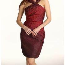 Max and Cleo Ombre Crinkle Red Taffeta Dress  Size 12 Photo