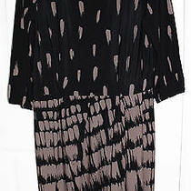 Max and Cleo Women's Black Faux Wrap Abstract Print Dress Nice Size Xl Photo
