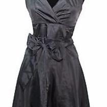 Max & Cleo Black Taffeta Dress  Size 4 Photo