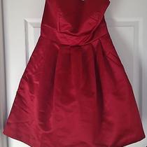 Max & Cleo Max Azria Satiny Strapless Red Party Mini Dress 10 Medium M 178 Nwt  Photo