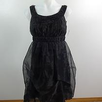Max & Cleo Womens Frill Black Polyester Formal Short Dress Size 4 Fabulous Photo
