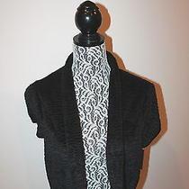 Maxandcleo Black Texture Bolero Dress Cover Up Short Slve  Black Formal   L Photo