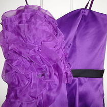 Maxandcleo Size 2 Short Formal Strapless Fabulous Dress Mulberry With Tag  Photo