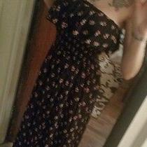 Maxi Pants Dress Navy With Flowers Van Wear Diff Ways. Size Medium but Fit Other Photo