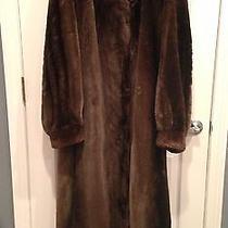 Maximilian Bloomingdale's Brown Beaver High End Fur Coat Small Photo