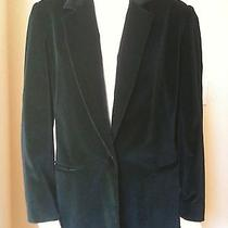 Maximilian Classic Black Velvet Blazer Coat Jacket Bloomingdale's Size 10 Photo