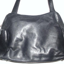 Maxx New York Black Soft Leather Great Size Shoulder Bag Cell Phone Pockets Photo
