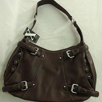 Maxx New York Pebble Leather Hobo With Buckle Detail Brown Photo