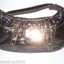 Maxx New York Soft Black Patent Quilted Hobo Shoulder Handbag Purse  Photo