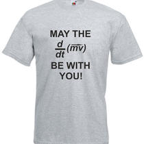 May the Force Be With You (Equation) Star Wars Inspired Men's Printed T-Shirt Photo