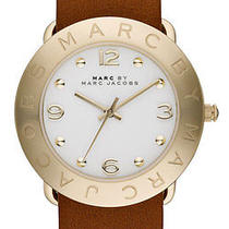 Mbm8574 - Marc Jacobs Amy Brown Leather Watch Photo