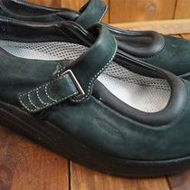 Mbt Dark Green / Black Mary Janes Rocker 8.5 8 1/2 Women's Causal Shoes Photo