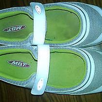 Mbt Walking  Shoes    Womens Sz 8  Euc   Mary Jane Style   Lime Green/white  Photo