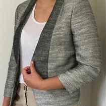 Mcb by Marlene Birger Silver Grey Collarless Open Blazer Size 12 (Eu 40) Photo