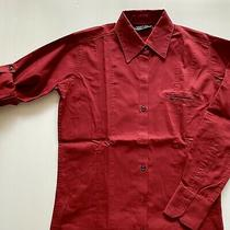 Mcdonalds Womens Manager Shirt - Size L - Adjustable Sleeve Maroon Uniform Photo