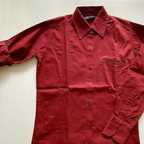 Mcdonalds Womens Manager Shirt - Size Xs - Adjustable Sleeve Maroon Uniform Photo