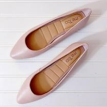 Me Too Aimee Almond Toe Leather Flats Blush Pink Size 8.5 New Without Box Photo