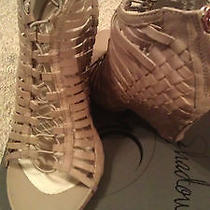 Mea Shadow Women's Velora Wedge Sandal Blush Leather Size 7.5 Photo