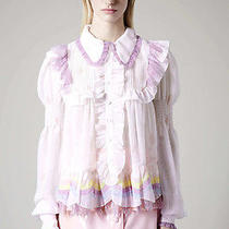 Meadham Kirchhoff for Topshop Rainbow Frill Blouse Brand New Size 10 Photo