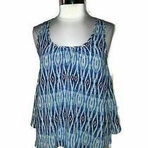 Meadow Rue Anthropologie Size Xs Shirt Top Merlon Tank Blue Grey Photo