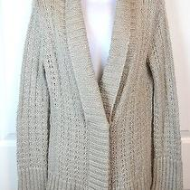 Med Large Sweater Gray Mossimo Cardigan Metallic Acrylic Blend Photo