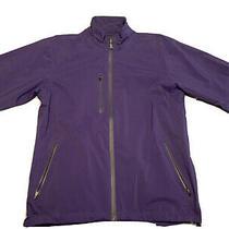 Medalist Golf Club Peter Millar Water Element Zip Pullover Purple Shirt Jacket M Photo