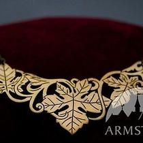 Medieval Costume  Handmade Brass Fantasy Style Necklace Jewelry Piece Photo