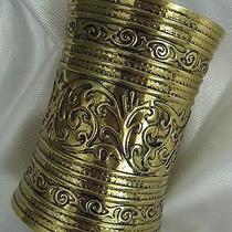 Medieval Fantasy Bracelet Cuff Cleopatra Grecian Women Costume Metal Accessory Photo