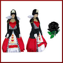 Medieval Red Queen of Hearts Fancy Dress Gown Costume Hoop Petticoat M 10-12-14 Photo