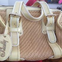 Medium Bally Retro Handbag (Straw With Cream Accent) Photo