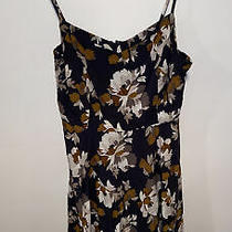 Medium Dress With Floral Print Black and Brown Photo